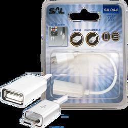 USB micro OTG kabl, dužina 16 cm, USB 2.0