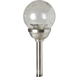 Solarna vrtna LED lampa, staklena sfera, 600 mAh