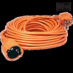 Produžni strujni kabl 1 utičnica, 20m, H05VV-F, orange