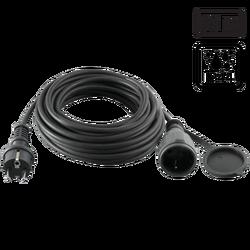 Produžni strujni kabl, gumirani, 1 utičnica, 10 m, H05RR-F