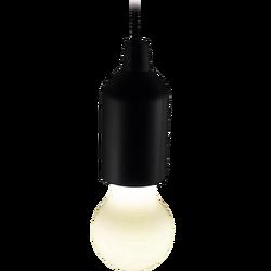 Lampa, LED,  na baterije, potezna, crna