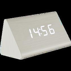 Sat sa alarmom i termometrom, drveno kućište