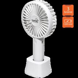 Ventilator ručni / stolni, promjer 9 cm, Li-Ion 800mA