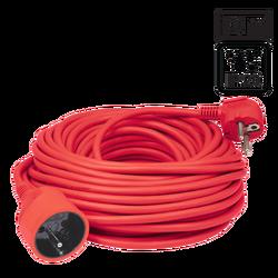 Produžni strujni kabl 1 utičnica, 10 m, H05VV-F 3G, crvena