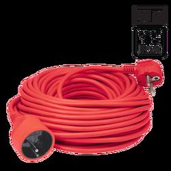 Produžni strujni kabl 1 utičnica, 20 m, H05VV-F 3G, crvena