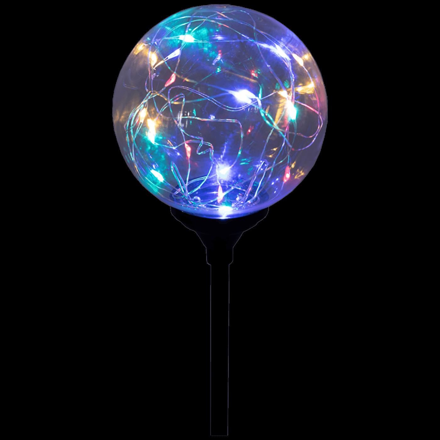 Solarna vrtna LED lampa, staklo/plastika, 600 mAh