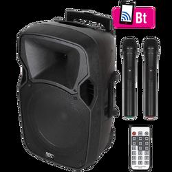 Zvučnik,set,2xmikrofon,pojačalo,daljinski ,11.1V  baterija