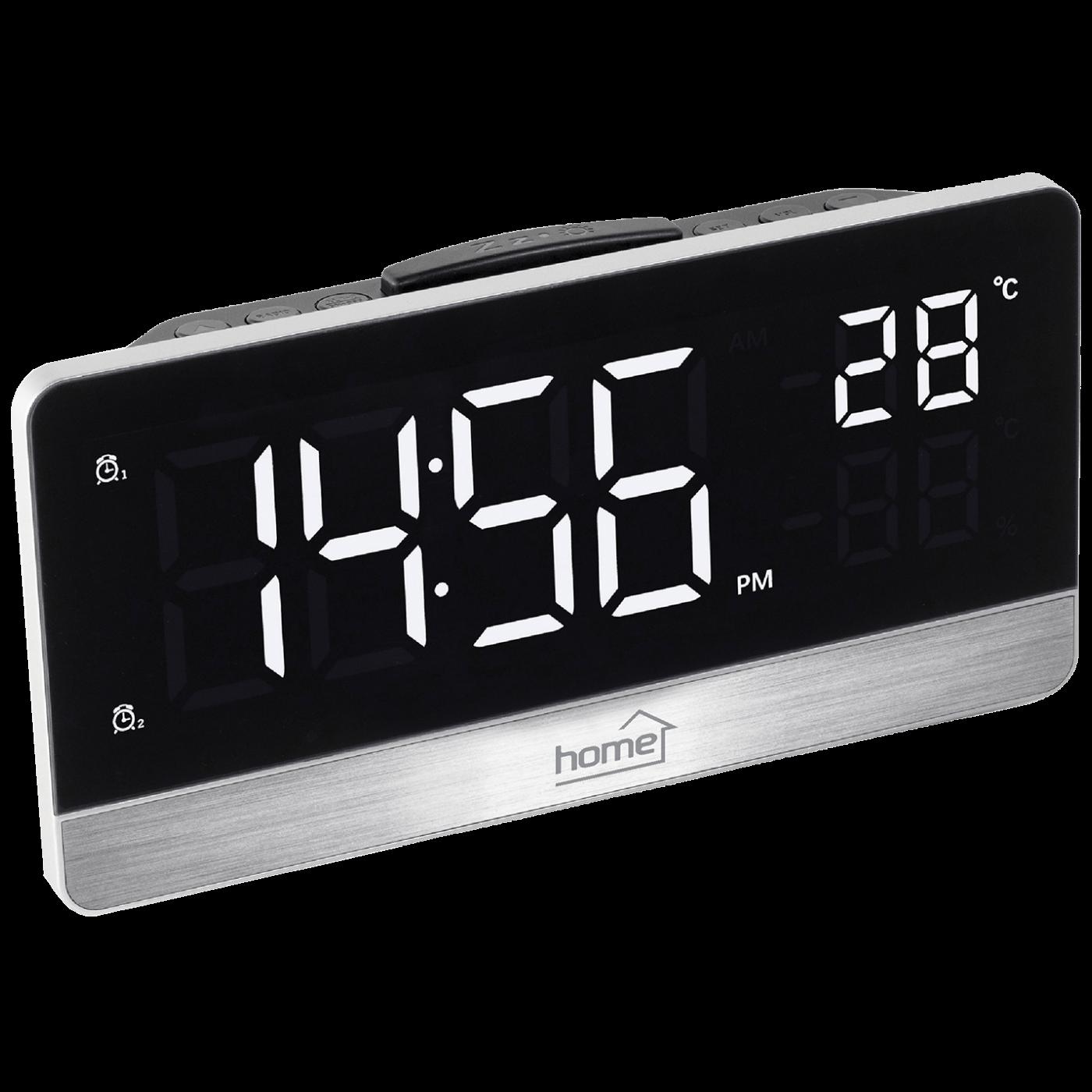 Sat sa alarmom, FM radio, LED zaslon, USB