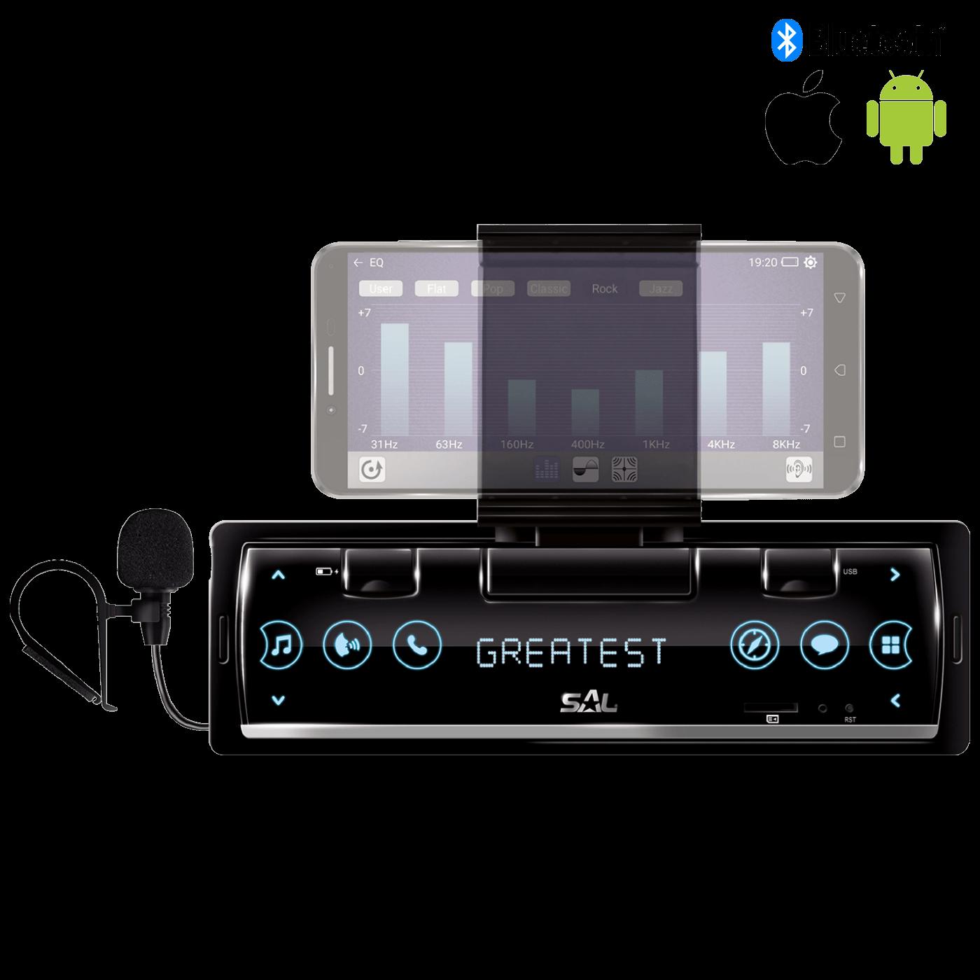 Pametni auto radio sa držačem za smartphone, 4 x 45W