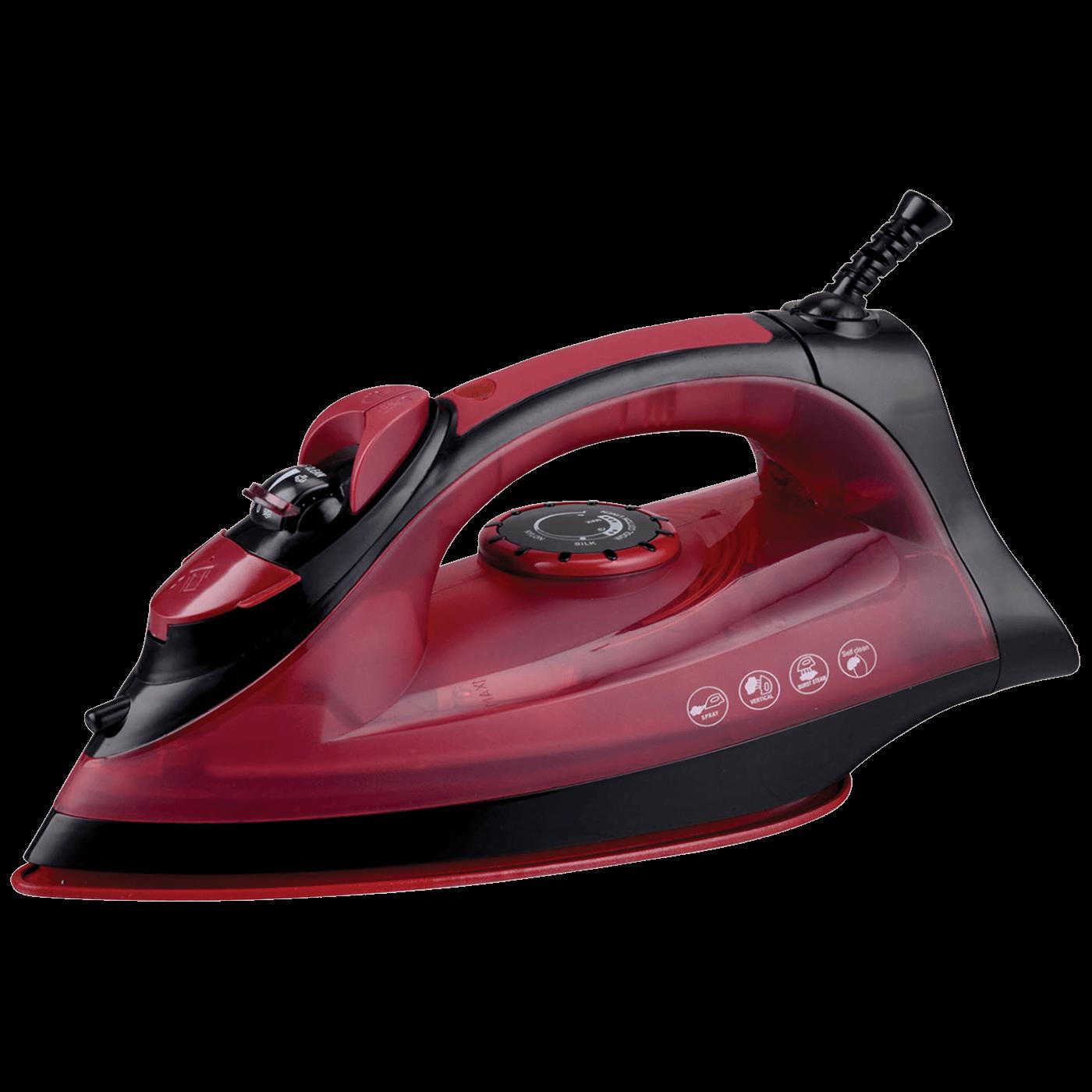 Pegla na paru, 2200 W, Anticalc And Drip, crveno/crna