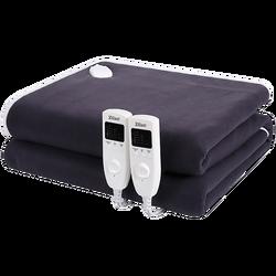 Električna deka, dvostruka širina,2 x 60 W,160 x 140 cm,crna