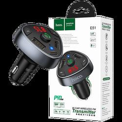 FM modulator, Bluetooth, 12/24 V, 2 x USB, 1 x type C