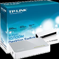 8-Portni switch, 200Mbps, 10/100M