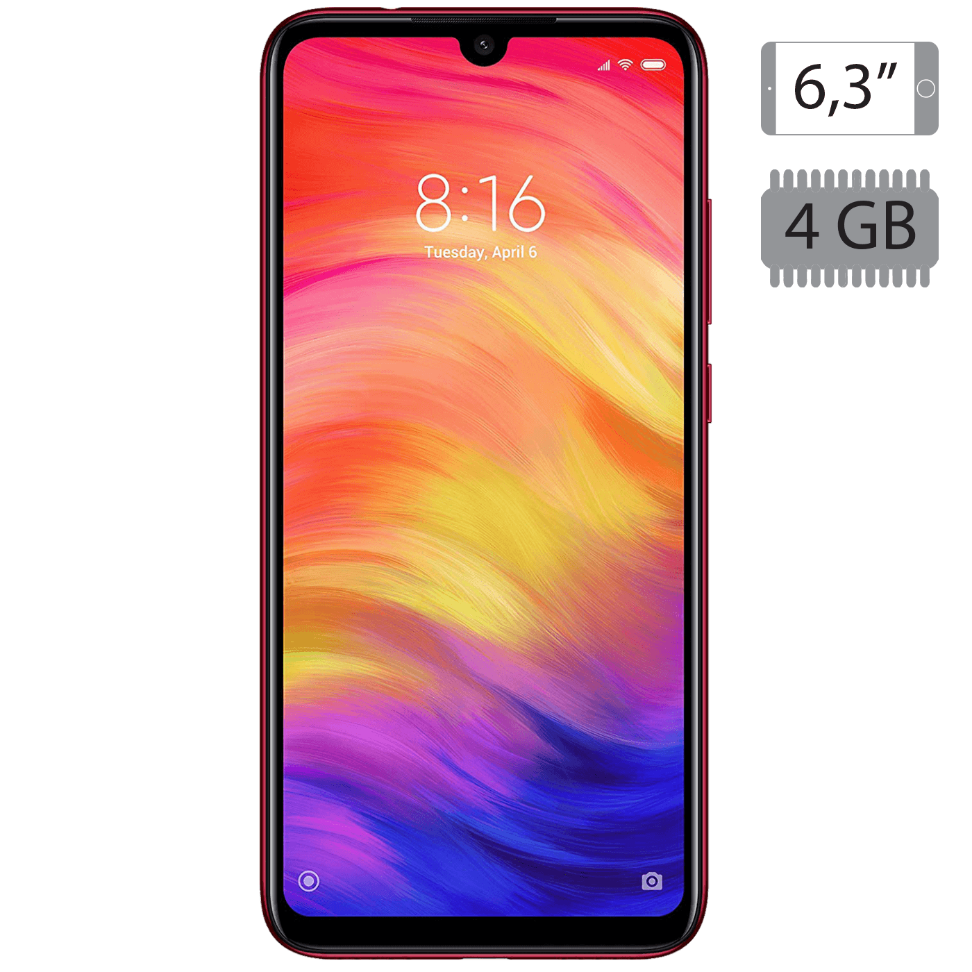 Xiaomi - Redmi Note 7 Nebula Red