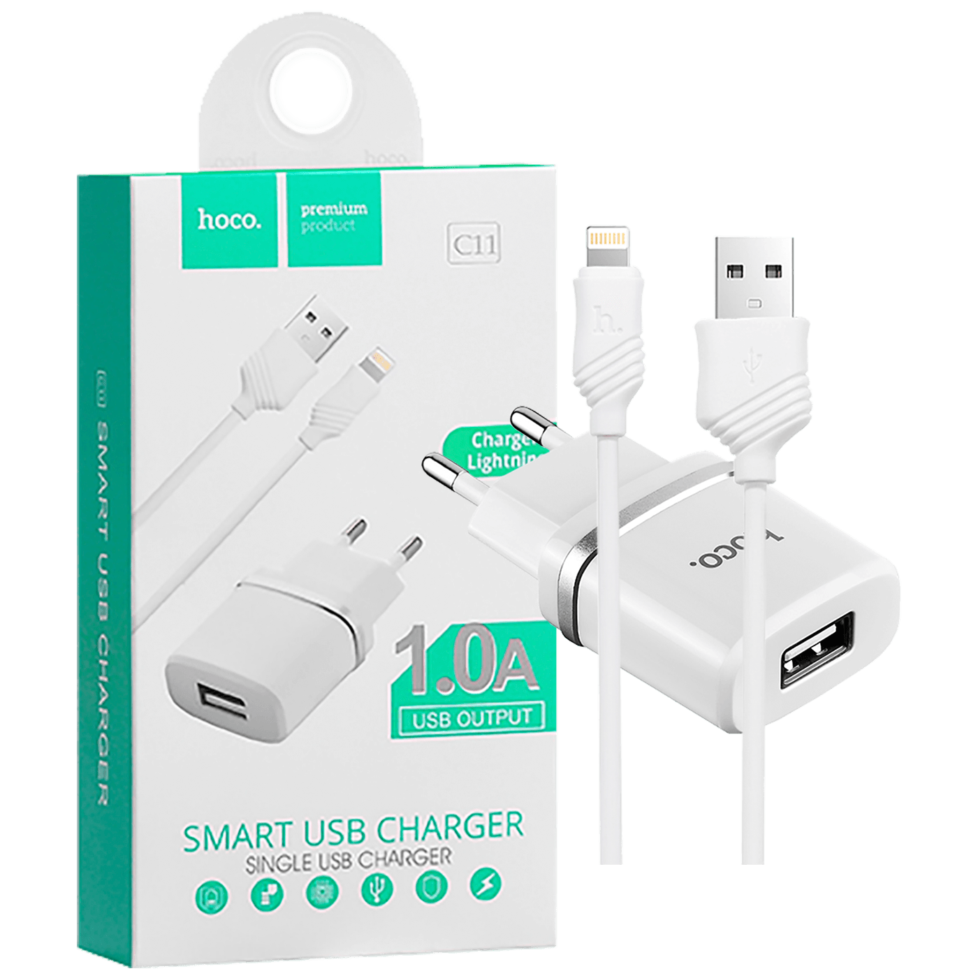 hoco. - C11 Smart single USB, Lightning