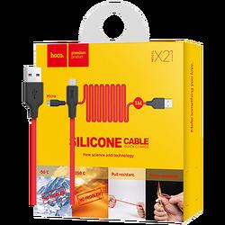 hoco. - X21 Silicone Micro USB, Black/Red