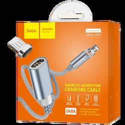 USB kabl za smartphone, metal magnetic, micro USB, 2.0 A