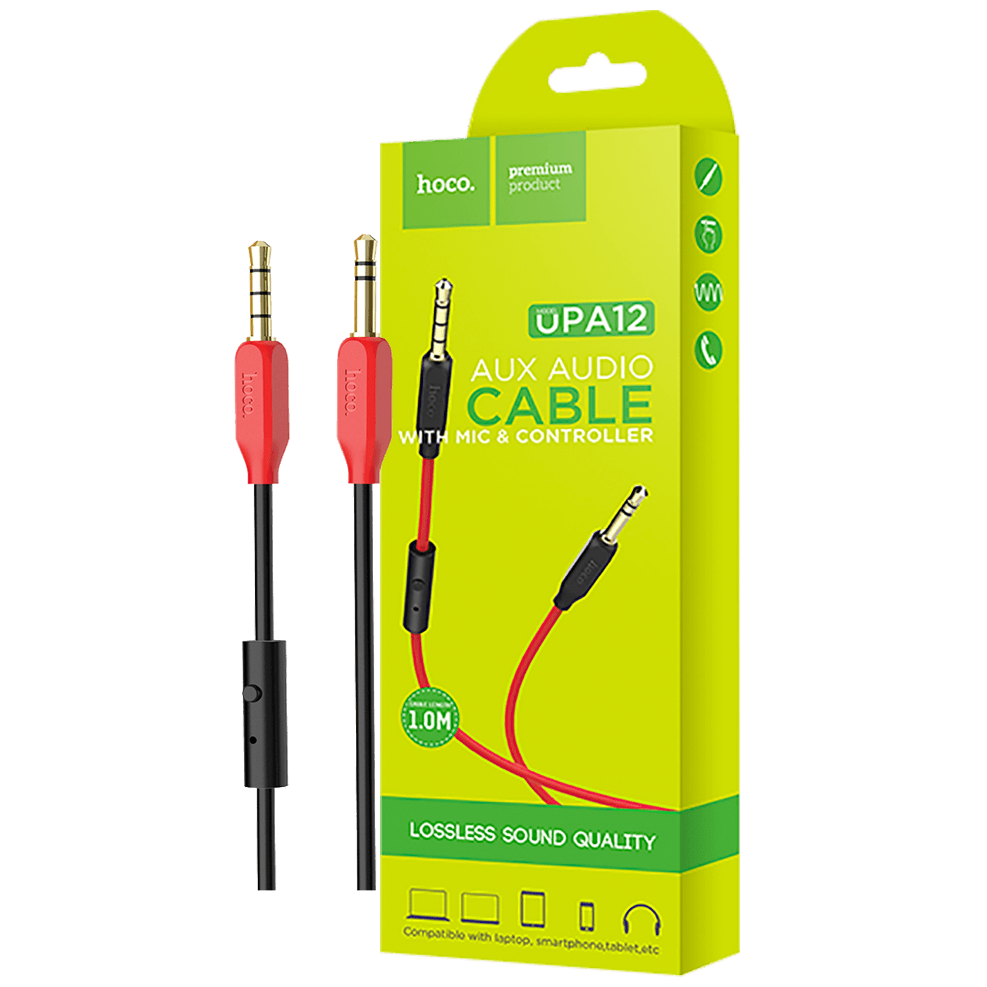 Audio kabl 3.5 mm sa mikrofonom, dužina 1.0 metar