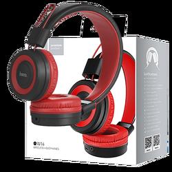Slušalice bežične / žične, Bluetooth/ 3.5 mm, crvena