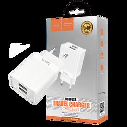 Punjač kućni, brzi, za smartphone, tablete..., 2 x USB,3.4 A