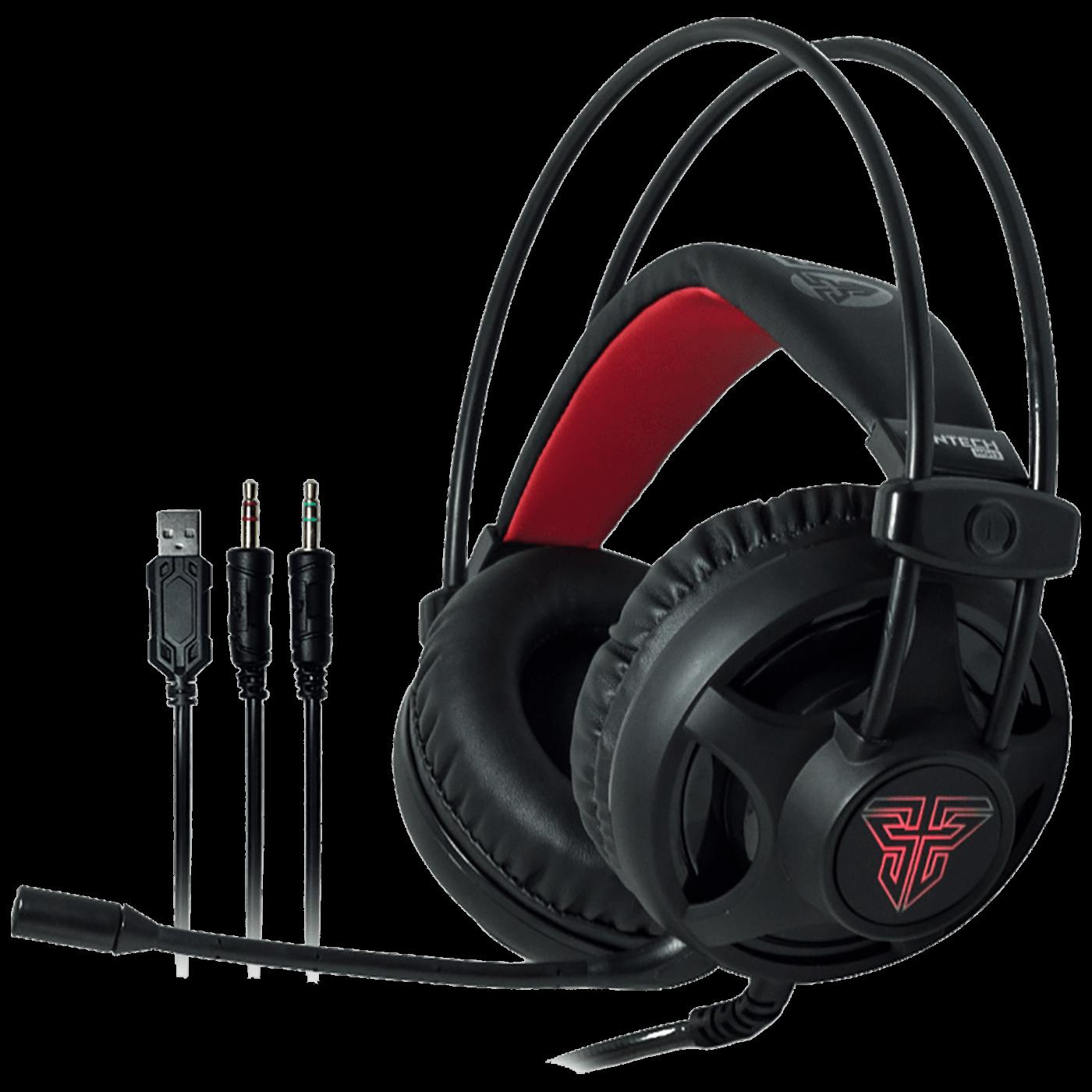 Slušalice sa mikrofonom, gaming, USB, 3.5mm, LED Red