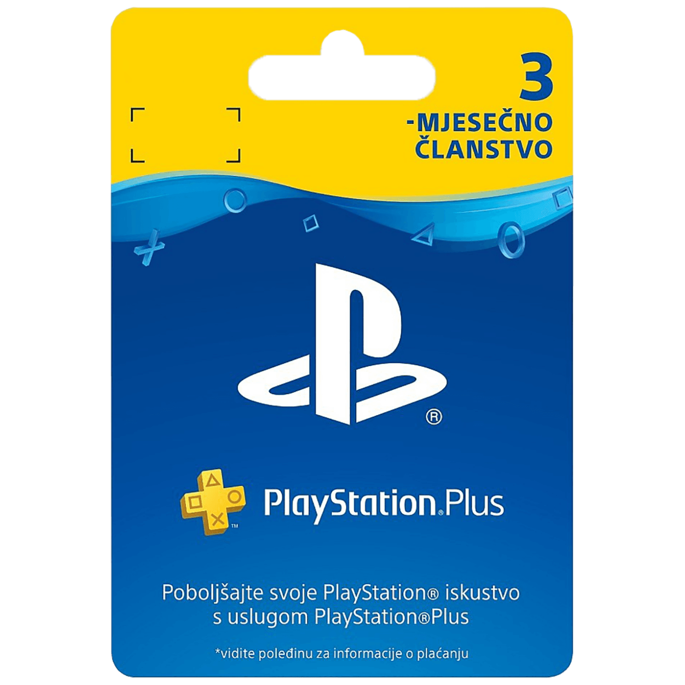 PS Plus Card 90 Days Hanger