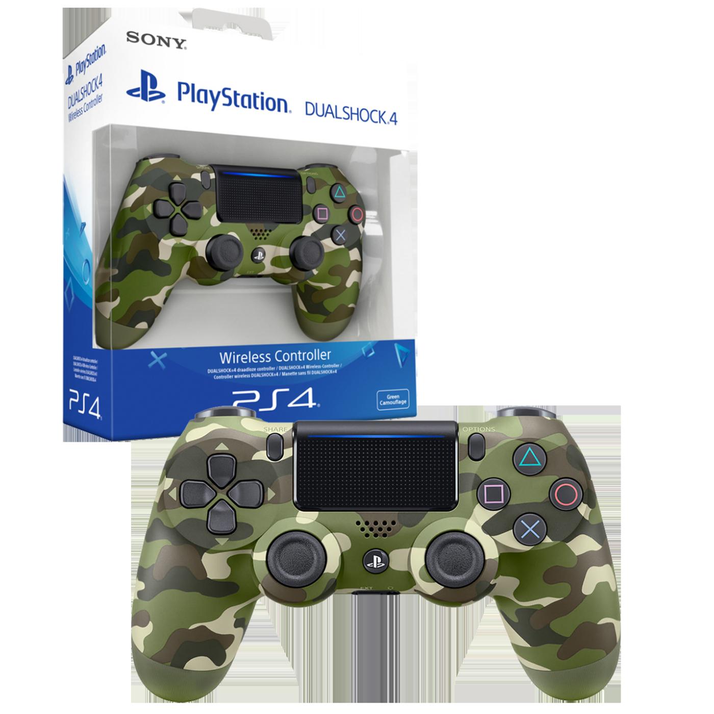 PS4 Dualshock Controller Green Camo