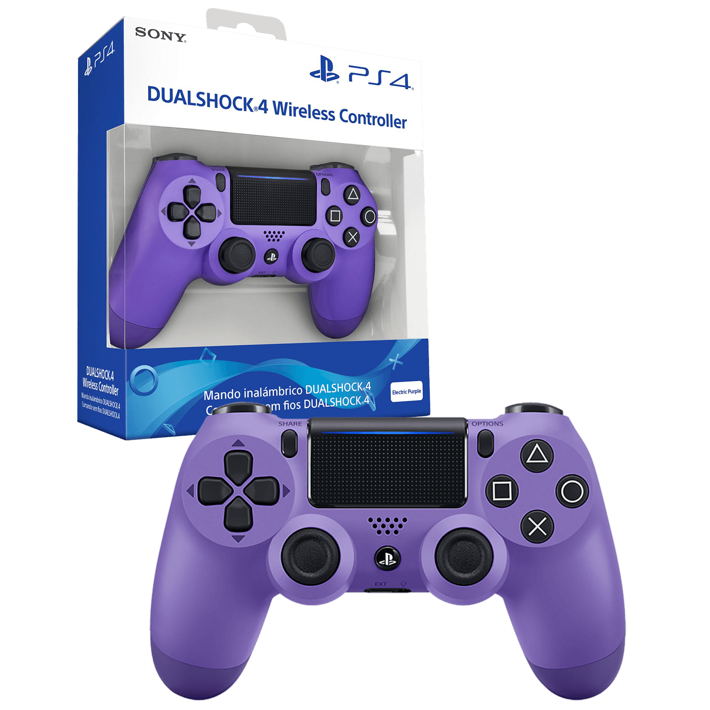 Sony - PS4 Dualshock Controller El. Purple