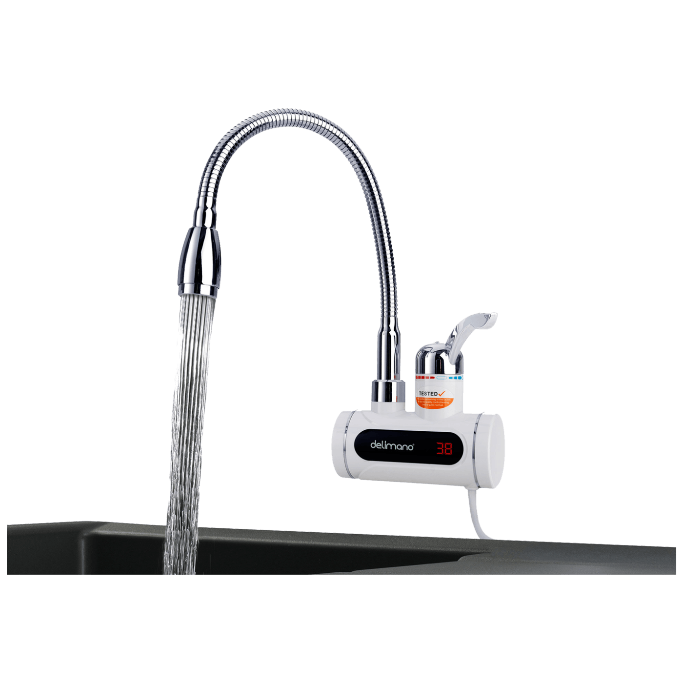Delimano - INST. HEATING FAUCET,HORIZONTAL PRO