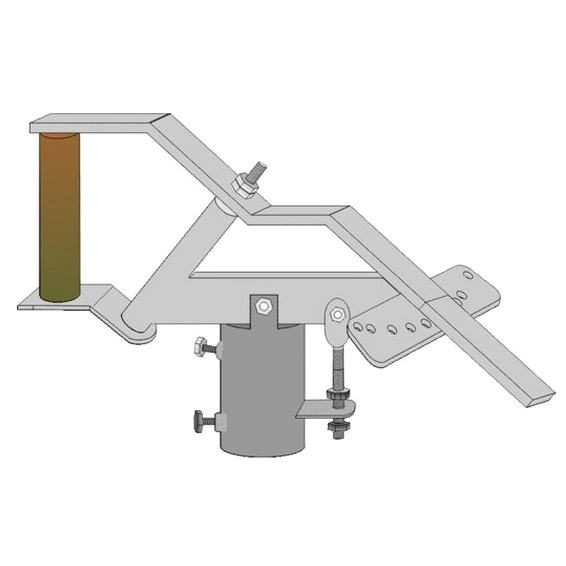Ručni pozicioner, metalni, sa označenim satelitima