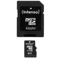 (Intenso) - BULK-SDHCmicro+ad-4GB/Class10