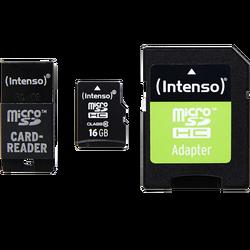 Micro SD kartica 16GB Class 10, USB + SD adapter