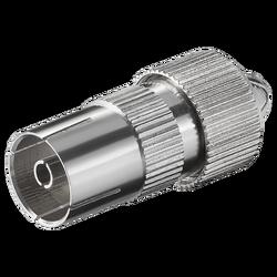 RF utičnica metalna, 1 komad