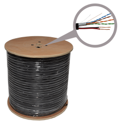 Mrežni UTP CAT5e  kabl + napajanje 2 x 0,75, CCA