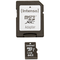 (Intenso) - BULK-Micro SD Card 64GB Class10 UH