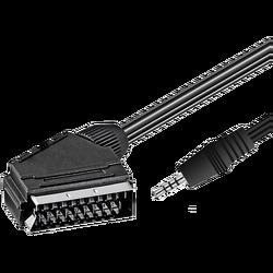 Jack 3.5 mm A/V na 21 pin Scart kabl, 1.5 met