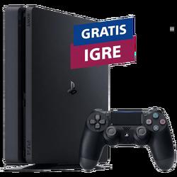 SET PlayStation 4 500GB F Chassis Black + POKLON 3 igre