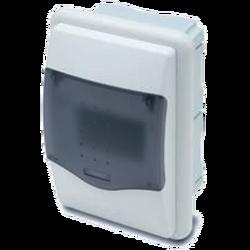 Kutija za osigurače podžbuk, 4 osigurača, providna, IP40