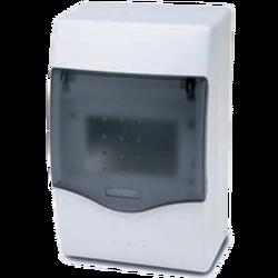 Kutija za osigurače nadžbuk, 4 osigurača, providna, IP40