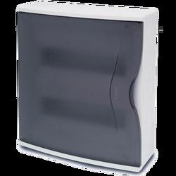 Kutija za osigurače nadžbuk, 24 osigurača, providna, IP40