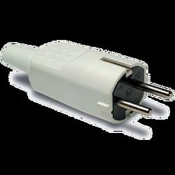 Strujni utikač 4.8mm Schuko, 2P+E, 16A/250V, bijeli