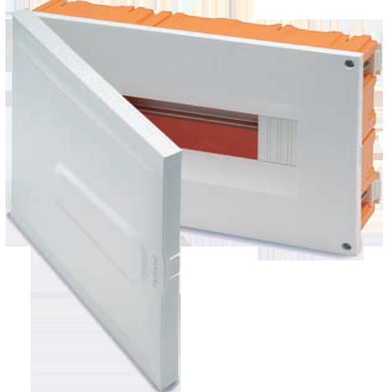 Kutija za osigurače rigips, 18 osigurača, bijela, IP40