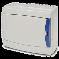Kutija za osigurače nadžbuk, 8 osigurača, bijela, IP65