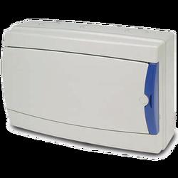 Kutija za osigurače nadžbuk, 12 osigurača, bijela, IP65