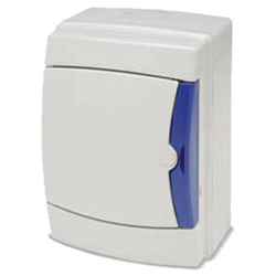 Kutija za osigurače nadžbuk, 4 osigurača, bijela, IP65