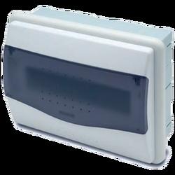 Kutija za osigurače podžbuk, 8/10 osigurača, providna, IP40