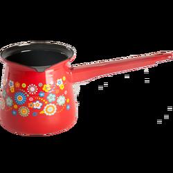 Džezva klasična , cvjetni uzorak,prečnik 12cm, emajl