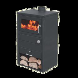 Blist kamin na čvrsto gorivo, 9-10kW, čelična vrata i plotna