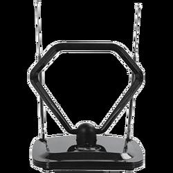 Antena sobna sa pojačalom, UHF/VHF, crna