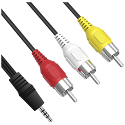 Mini AV 3.5 mm na RCA kabl, dužina 1.2 met